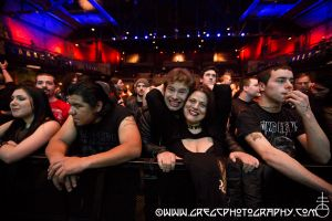 Amon Amarth fans at The Paramount in Huntington, NY- February 5, 2014.