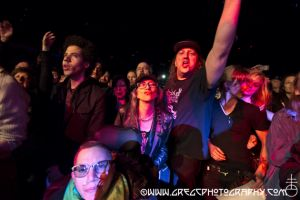 Bush Tetras fans at Le Poisson Rouge, NYC- May 1, 2015.