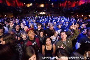 California Breed fans at The Paramount in Huntington, NY- October 12, 2014.