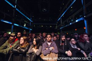 Death From Above 1979 fans at Terminal 5, NYC- November 28, 2014.