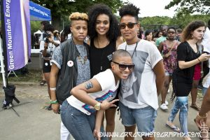 Afro Punk Fest fans at Commodore John Barry Park Brooklyn, NY- August 25, 2012.