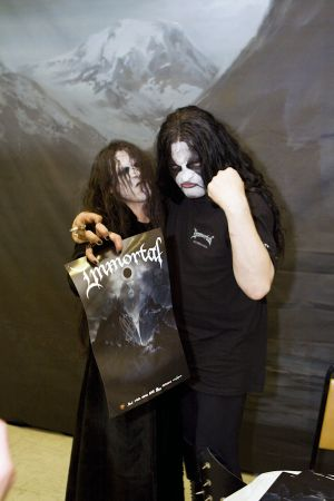 Dark fan with Immortal's Abbath at Brooklyn Masonic Temple, NY- March 30, 2010.