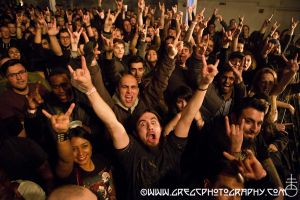 In Flames fans at Terminal 5, NYC- December 18, 2014.