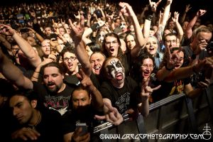 King Diamond fans at Best Buy Theater, NYC- October 14, 2014.