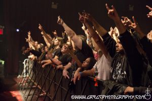 Melechesh fans at Gramercy Theater, NYC- October 16, 2012.