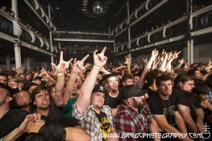 Meshuggah fans at Terminal 5, NYC- May 23, 2012.
