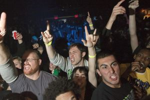 Municipal Waste fans at Gramercy Theater, NYC- November 4, 2011.