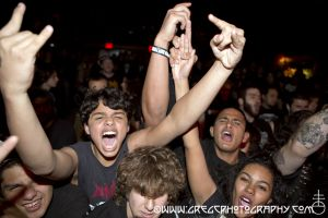 Napalm Death fans at Gramercy Theater, NYC- October 27, 2012.