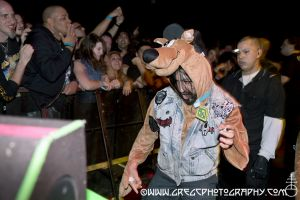 Scooby Doo is a Napalm Death fan! Who knew? At Gramercy Theater, NYC- October 27, 2012.