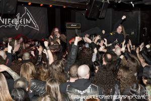 Nifelheim fans at Saint Vitus Bar in Brooklyn, NY- March 15, 2015.