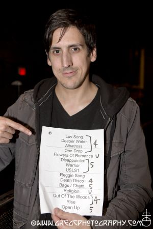 Public Image Ltd fan with setlist at Hammerstein Ballroom, NYC- October 13, 2012.