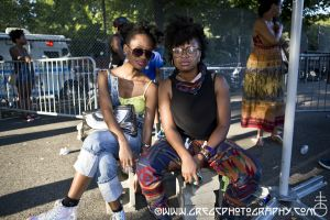 Afro Punk Fest fans at Commodore John Barry Park Brooklyn, NY- August 25, 2013.