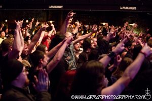 Skeletonwitch fans at The Paramount in Huntington, NY- February 5, 2014.