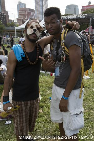 Afro Punk Fest fans at Commodore John Barry Park Brooklyn, NY- August 26, 2012.