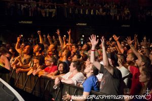 The Hold Steady fans at The Paramount in Huntington, NY- June 28, 2014.