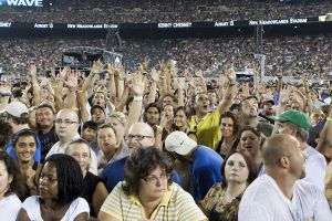 U2 fans at New Meadowlands Stadium in East Rutherford, NJ- July 20, 2011.