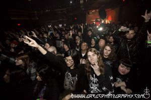Watain fans at Webster Hall, NYC- January 10, 2015.